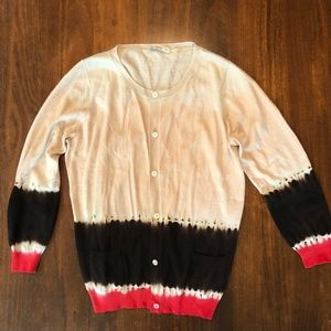Tricolored Prada Cardigan 3/4 length sleeves
